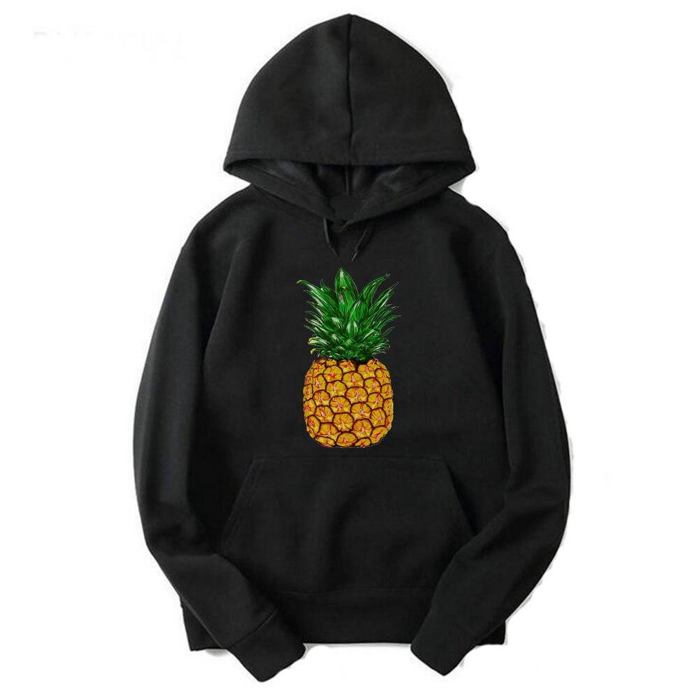 Gresanhevic New Men Women Winter Pineapple printed Fitness Street wear Hip Hop Male Solid Sweatshirts Hoodies