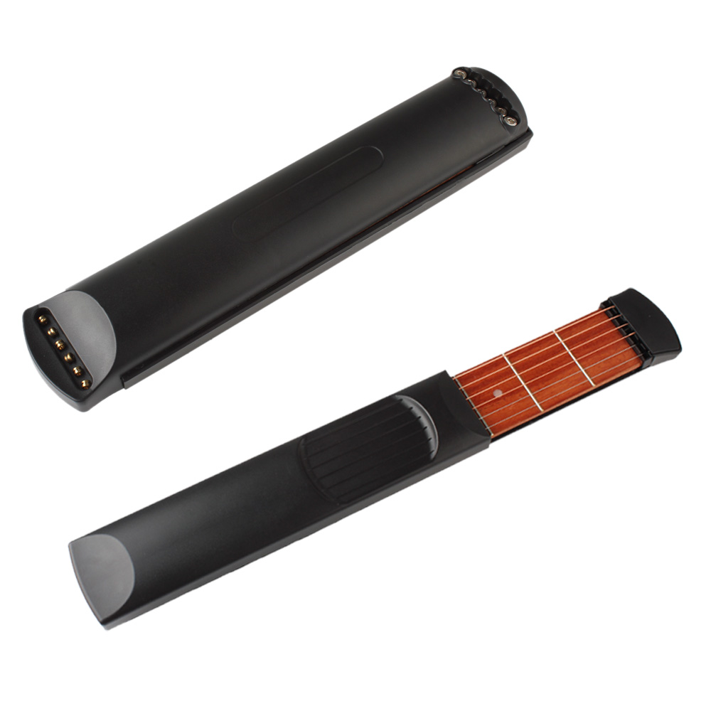 2PCS Pocket Guitar Portable Pocket Acoustic Guitar Practice Tool Gadget Chord Trainer 6 String 6 Fret Model for Guitar Beginner