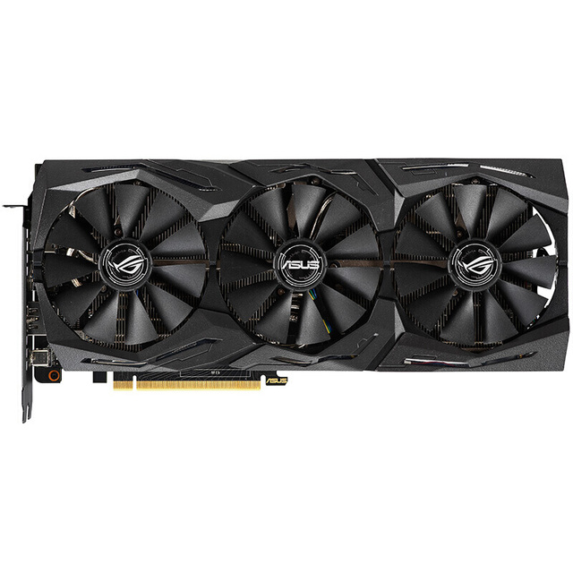 US $769 61 |ASUS ROG STRIX RTX 2070 A8G GAMING Desktop Game Graphics Card  GDDR6 Support 4 screen output-in Graphics Cards from Computer & Office on