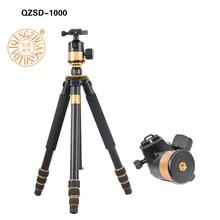 QZSD Q1000 Professional Photographic Tripod For SLR Camera Tripod Ball Head Monopod Hight 1630MM Action Camera Accessories qzsd q590 portable slr camera tripod with ball head