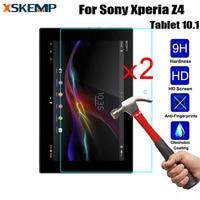 XSKEMP 2 Pcs 9 H 2.5D Filme Tablet Para Sony Xperia Z4 Tablet 10.1 SGP771 Tablet 9 H Real de Vidro Temperado Protetor de Tela protetora