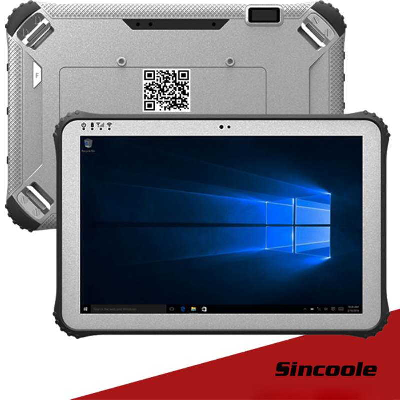 4G 128G RAM ROM 12 inch 4G LTE windows 10 pro rugged Tablets industrial panel PC