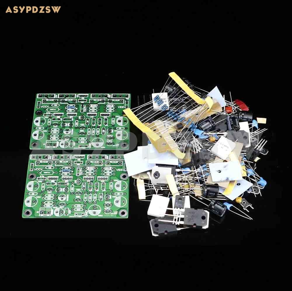 2 PCS MX50X2 NPN D1047 Power amplifier DIY kit Base on Musical fidelity XA50 circuit bdx53c to 220 npn