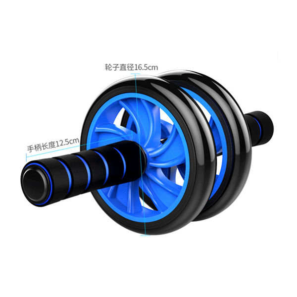 Dual ABS Abdominal Wheel AB Roller Exercise Fitness Equipment Workout GYM image