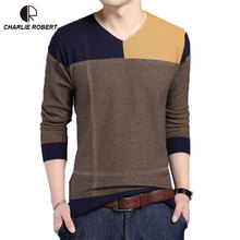 New Autumn Fashion Men Brand Casual Sweater MK163 Men O-Neck Slim Fit Knitting Splice Pullover Sweaters