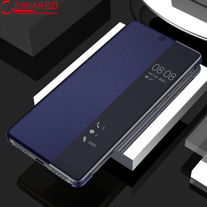 Pour Huawei P20 Pro Cas PU En Cuir Smart View Fenêtre Protection Flip Couverture pour HUAWEI P20 Cas pour Huawei P20 couverture Funda Coque