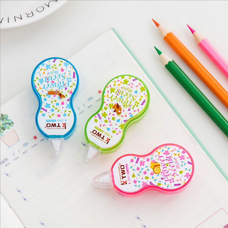 1 X Cute Mini Floret  Correction Fluid Correction Tape Material Escolar Kawaii Stationery Office School Supplies Papelaria 8M