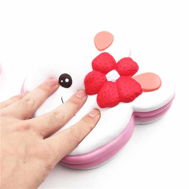Оптовая продажа Прямая доставка Мягкое Junbo Кролик Торт Ароматизированная подвеска медленно поднимающаяся игрушка-антистресс игрушки снятие стресса S3MAY29