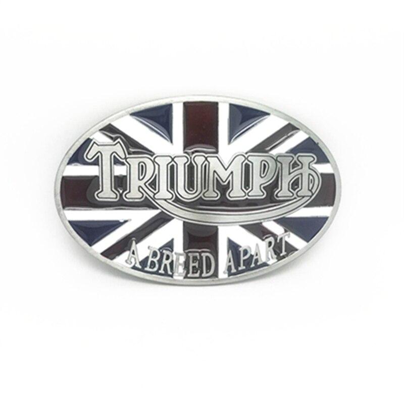 Wholesale Zinc Alloy  Western  Cowboy BuckleOval British Flag With Triumph Metal Belt Buckle For 4 Cm Belt Accessories