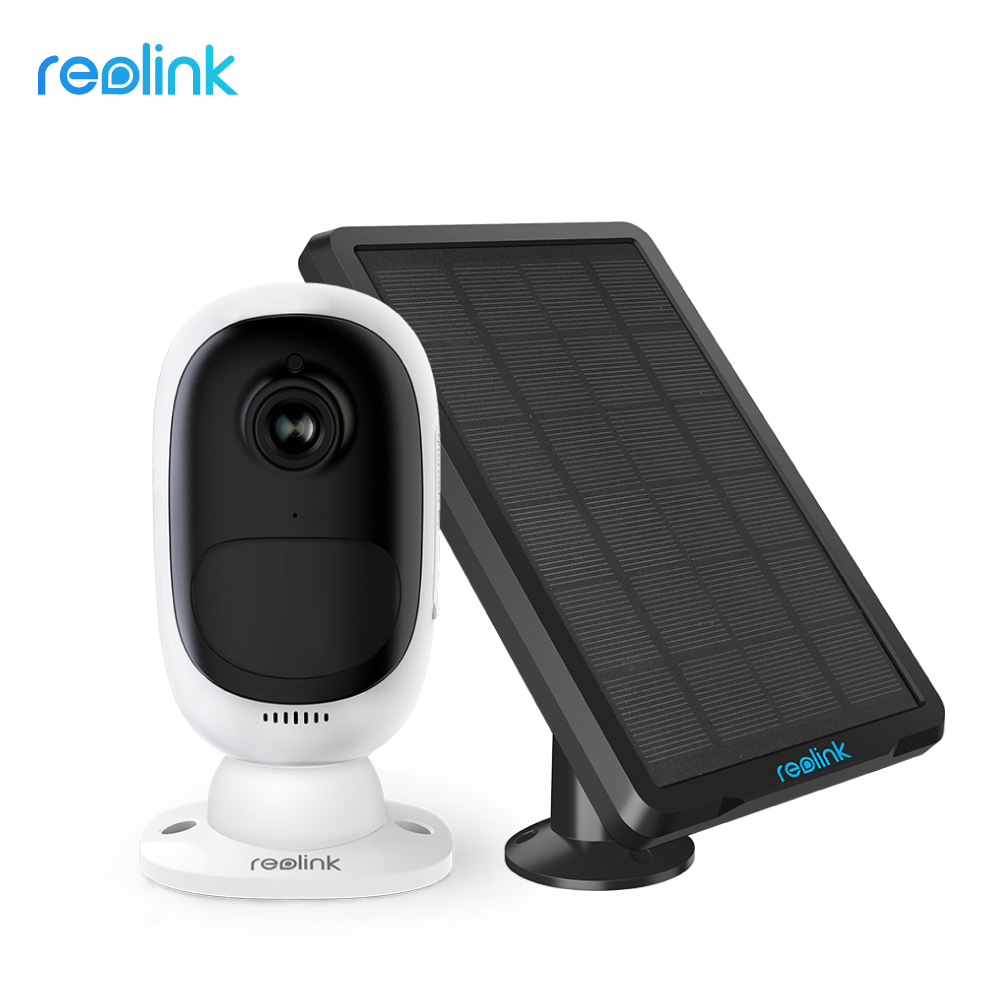 Reolink 1080P WiFi IP Security Camera Argus 2 Rechargeable Battery Powered with Solar Panel for Indoor