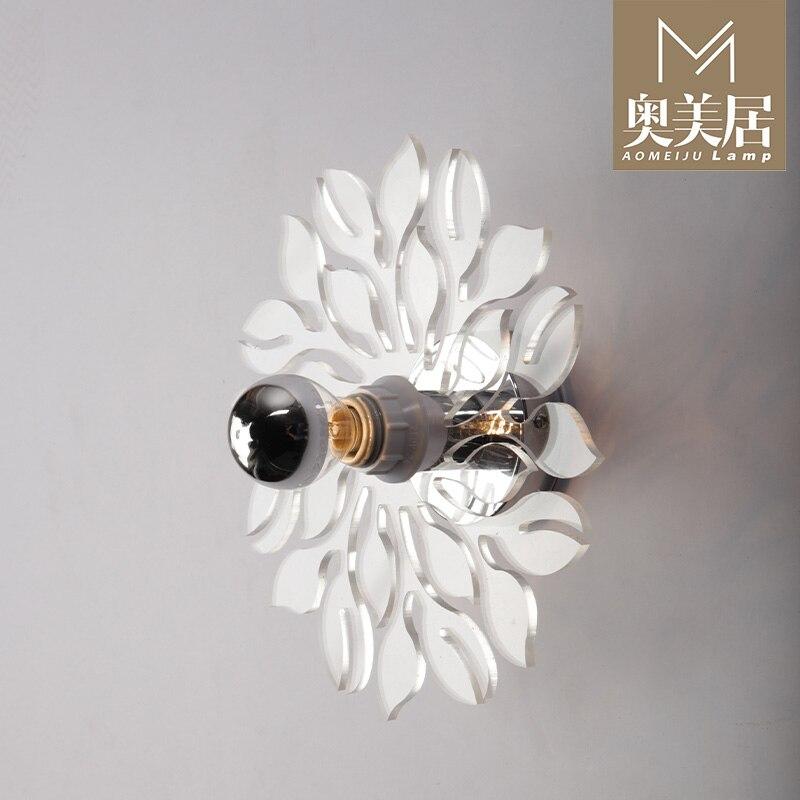 Simplicité de la personnalité européenne moderne couloir salon lumières chambre lampe de chevet lampe murale ombre à neige - 4