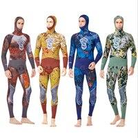 2019 Мужской 5 мм гидрокостюм камуфляж подводный рыбалка костюм закрытый неопреновый гидрокостюм для подводного плавания для мужчин дайвинг