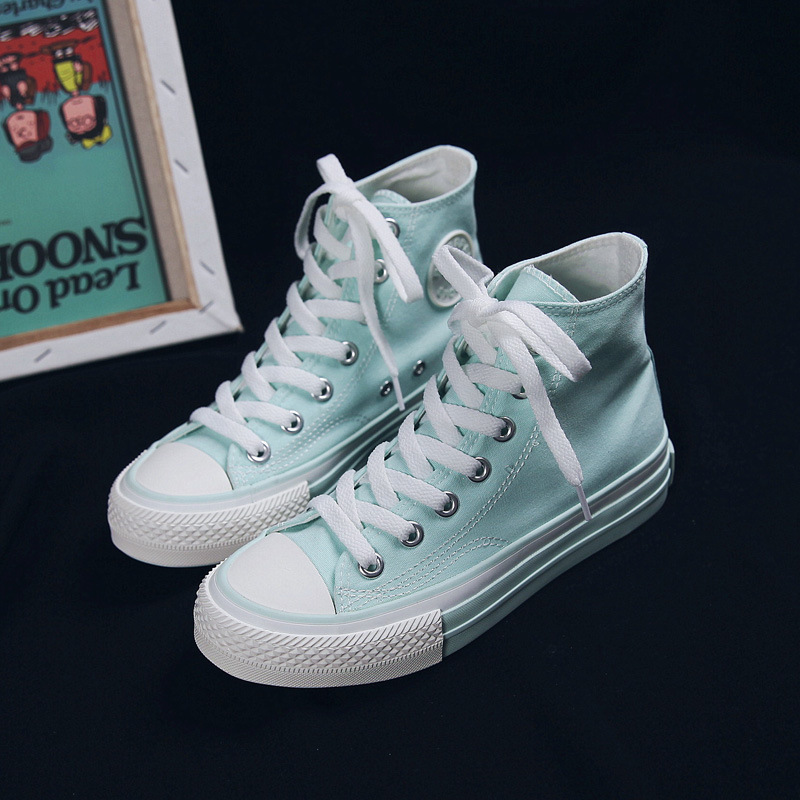 Pink Shoes Women High Top Sneakers Mint