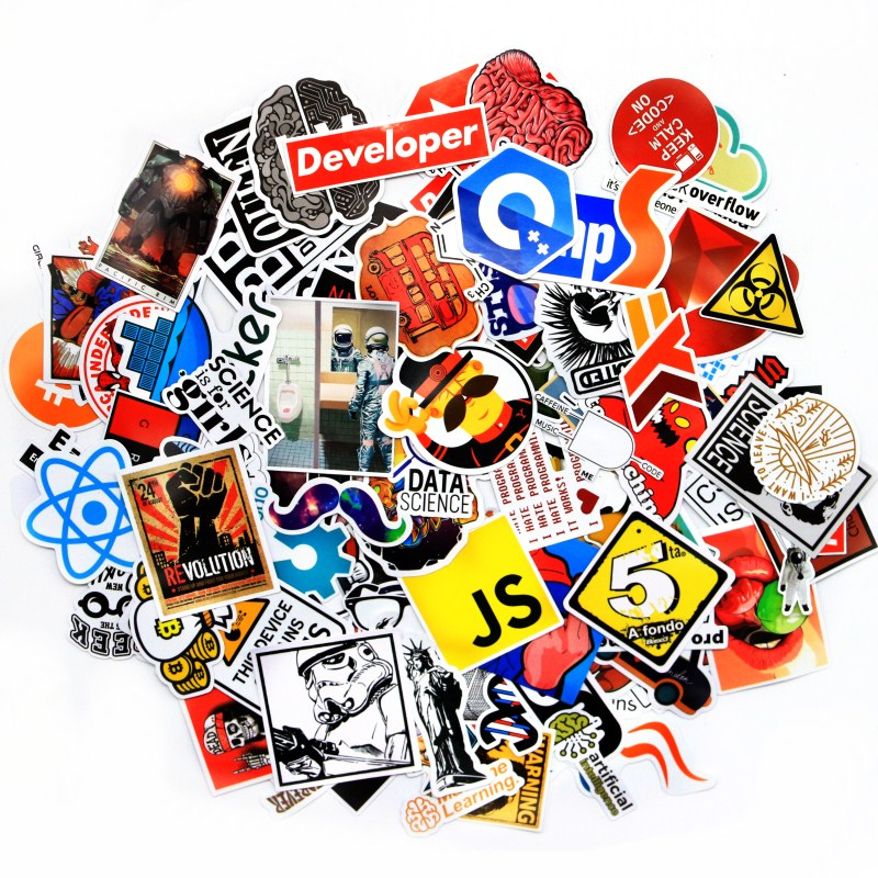 mixed stickers cartoon Fashion Style Programming Graffiti Stickers for Laptop Car DIY Stickers cartoon airplane style red
