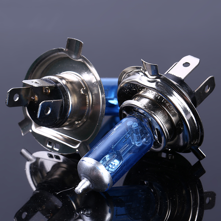 2pcs H4 55W Halogen Car Light Bulb High Low Beam H4 12V 60/55W P43T 9003 Super Xenon White 6000K Headlight Lamp
