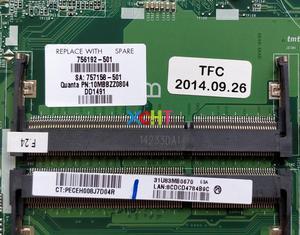 Image 3 - Per HP Pavilion 14 N Serie 756192 501 756192 001 216 0841009 8670 m/2 gb i5 4200U DA0U83MB6E0 Scheda Madre Del Computer Portatile Mainboard Testato