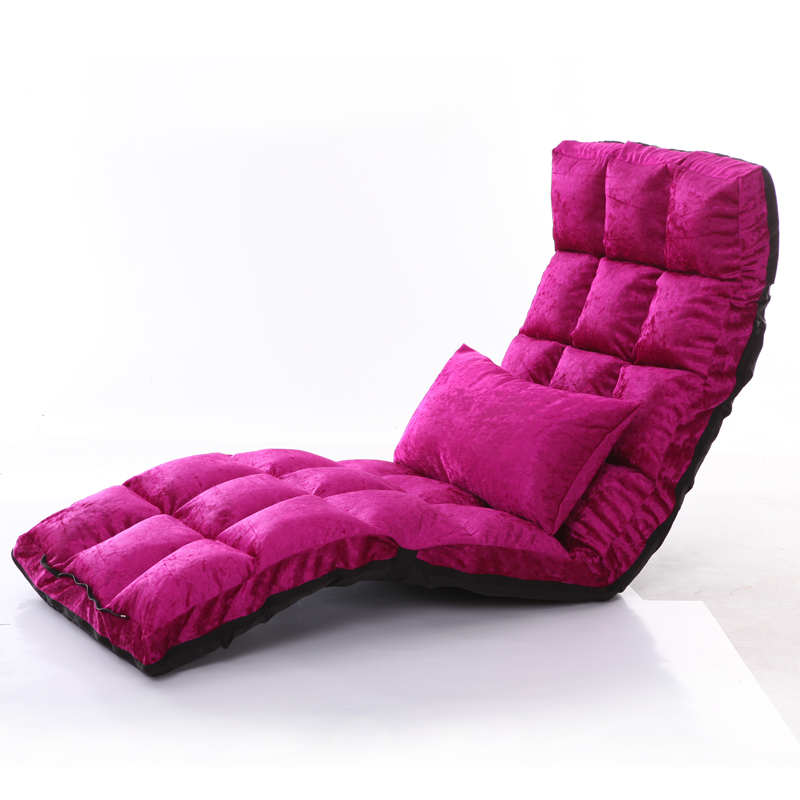 Floor Lounger 14 Position Adjsutable 4 Colors Fabric Chaise Lounge ...