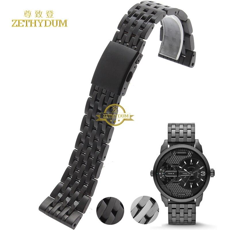 Stainless Steel Bracelet Solid Metal Watchband 24 26 28 30mm Wristwatches Band For Diesel DZ7263 DZ7330 DZ4358 Watch Strap