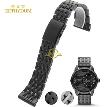 Stainless steel bracelet solid metal watchband 24 26 28 30mm wristwatches band for diesel