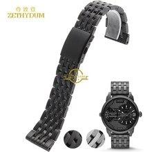 f5ccaa0a54c3 Pulsera de acero inoxidable de metal sólido correa de reloj 24 26 28 30mm  pulsera banda para diesel DZ7263 DZ7330 DZ4358 correa .