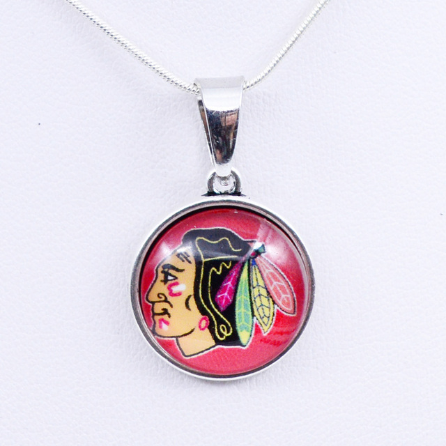 Necklaces Pendants NHL Chicago Redhawks Charms Ice Hockey Team Women Necklace For Girls Gifts Party Birthday Fashion 2018