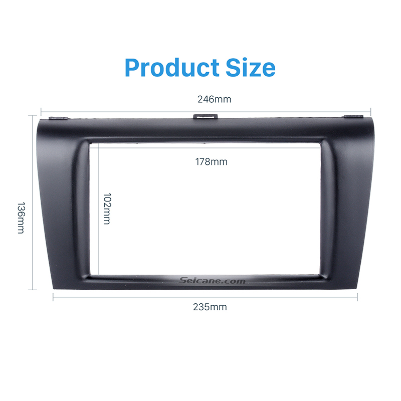 Seicane Car <font><b>Radio</b></font> Fascia Trim Kit for 2004-2009 <font><b>Mazda</b></font> <font><b>3</b></font> Axela Double Din Fascia Audio Fitting Adaptor Facia Panel Car Stereo image