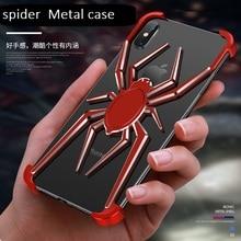 Metall spinne Die element stents für iPhone X XS Max Fall Abdeckung Coque für iPhone 11 Pro Max Xr Luxus stil stoßfest telefon fall