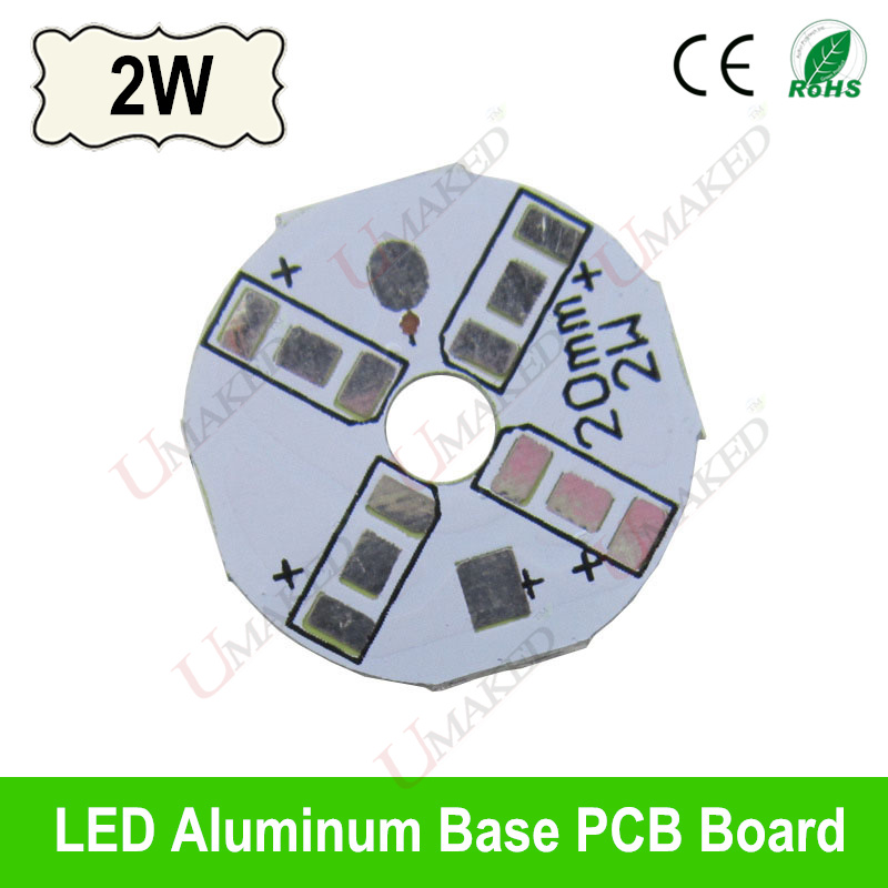 2W 20mm LED PCB board for 5730 5630 leds LED heat sink board, LED aluminium base plate for bulb light, ceiling light etc synthetic graphite cooling film paste 300mm 300mm 0 025mm high thermal conductivity heat sink flat cpu phone led memory router