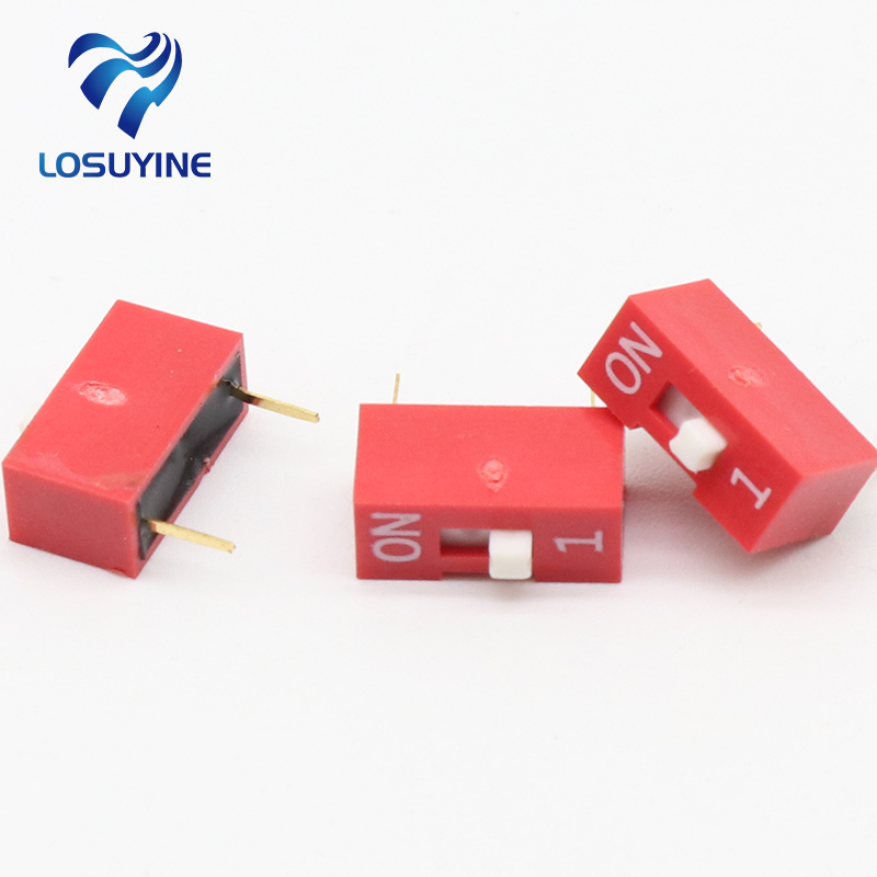 10Pcs Slide Type Switch Module 1-Bit 2.54mm 1 Position Way DIP Red Pitch 10pcs slide type switch module 1 bit 2 54mm 1 position way dip red pitch