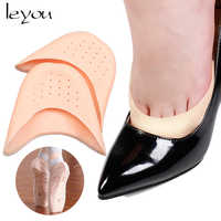 Leyou Silicon Gel Dancing Foot Tip Protector Shock Absorbing Inserts Pads Foot Tip Pouch Dance Point Pads for Ballet