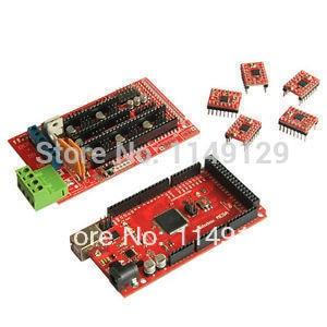 New RepRap Iduino Mega R3 Board RAMPS 1.4 Shield Pololu steppper driver A4988 for 3D printer Prusa Mendel|board marker|board chopping|board holder - title=