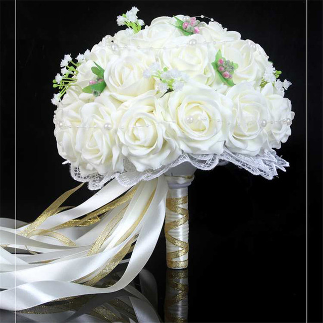 New arrival wedding decoration artificial flower wedding bouquets new arrival wedding decoration artificial flower wedding bouquets colorful pom pom flores long ribbon bridal bouquet junglespirit Choice Image