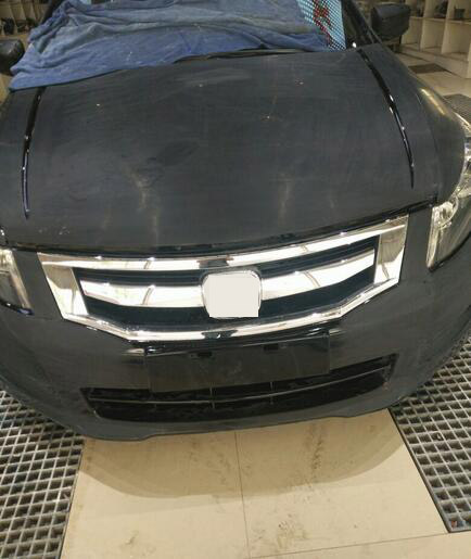 For <font><b>2008</b></font>-2011 <font><b>Honda</b></font> <font><b>accord</b></font> sports style ABS OEM Front Radiator Bumper Grille <font><b>Grill</b></font> image