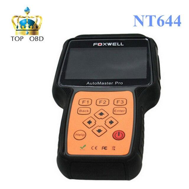 100% Оригинал Foxwell NT644 Все Делает Полный Системы Сброса Нефти/EPB/DPF Диагностический Инструмент DHL Бесплатная Доставка ELM327 Bluetooth бесплатно