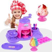 pretend play children Kitchen simulation crusher DIY ice cream Scene simulation parent child interaction toy for children Gifts