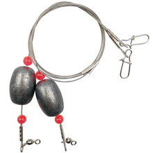 2pcs Ready Egg Rig Saltwater Fishing Trace Steel Wire With Heavy Duty Sinkers Strong Wire Leaders Weight