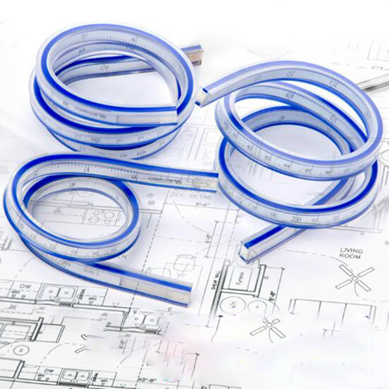 30cm Design Of Snake-shaped Rulers Curved Shape Drawing Soft-ruler Drawing Design Geometry Ruler