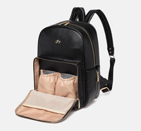 AimaBaby daily leather diaper bag multi-function large capacity backpack maternity nappy shoulder bag with changing pad  travel