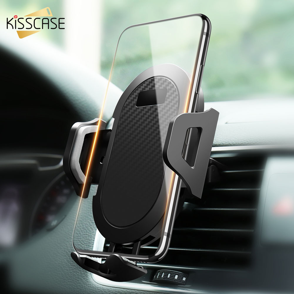 KISSCASE Air Vent Car Phone Holder For Oppo Find X Vivo Nex Anti-gravity Air Vent Mount Phone Holder Clip Cell Phone Car Holder