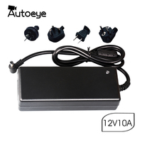 Autoeye 12V10A Power Supply DC12V Transformer AC 110V 220V 220 V to DC 12 Volts 12 V LED Driver for LED Strip