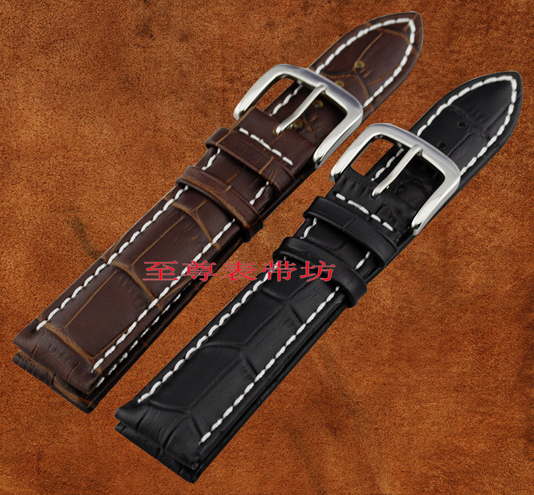 New arrival  Luxury Original Genuine Leather Watch Band 18mm 19mm 20mm  22mm perfect quality watch strap stainless steel clasp