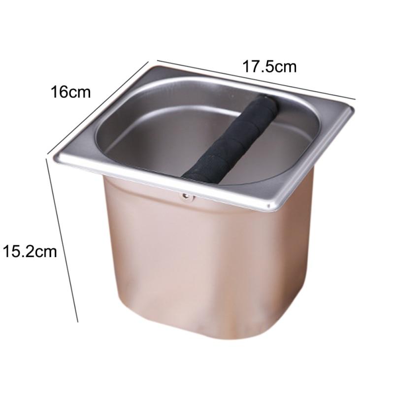 Dropshipping Household Stainless Steel Italian Style Coffee Machine Waste Slag Bucket Coffeeware