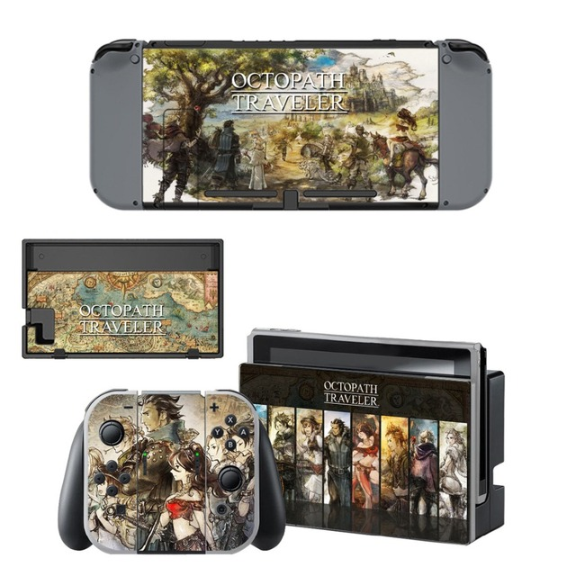 Nintend Switch Vinyl Skins Sticker For Nintendo Switch Console and Controller Skin Set - Octopath Traveler 2