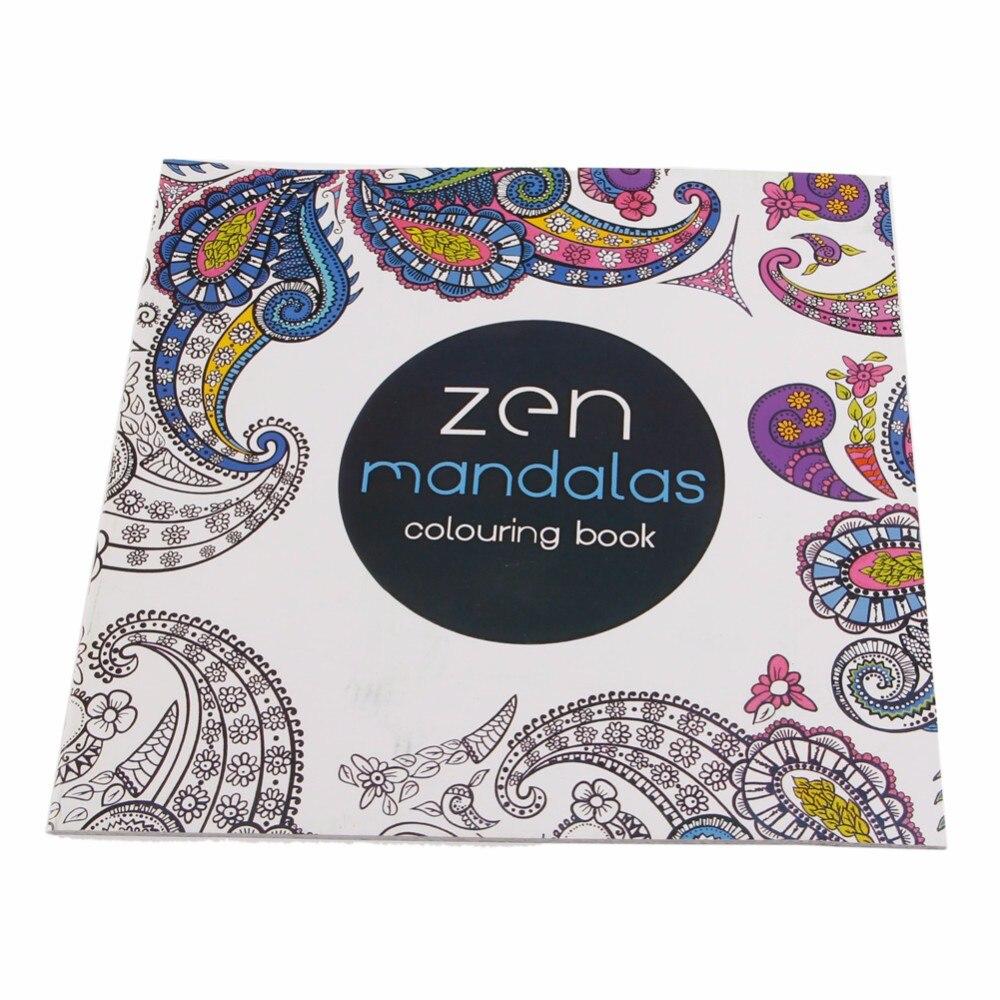 1 piezas 12 páginas Mandalas flor libro para colorear para niños ...