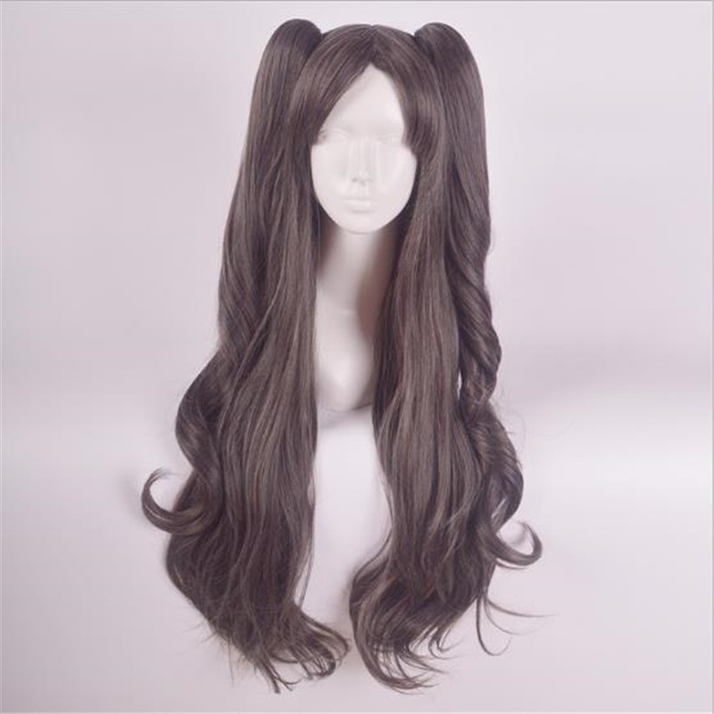 BOOCRE Cosplay Anime Fate stay night Tohsaka Rin Wig Costumes Accessories Head Ornaments Long Curled Hair