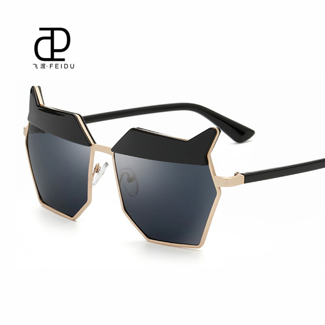 702bc7fd0932 FEIDU 2016 Star Style Sunglasses Women Exclusive Fashion Summer Sunglasses  Sunscreen Outdoor Glasses Polygon Cat eye