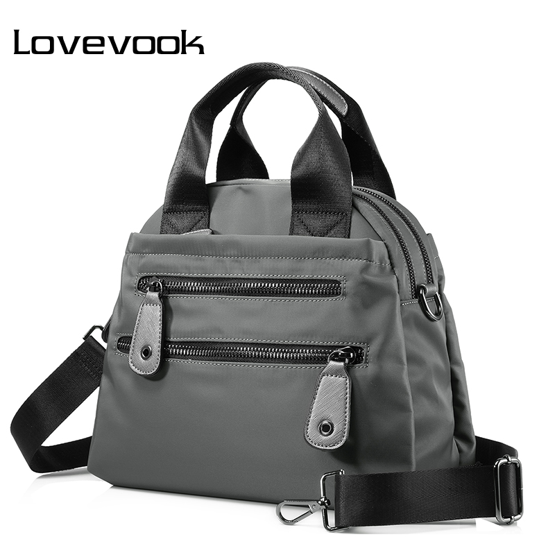 LOVEVOOK Women Nylon Waterproof Handbag Travel Casual Shoulder Bag Large Capacity Crossbody Bags Fashion Ladies Zipper Handbags women s messenger bags ladies nylon handbag travel casual bag shoulder female high quality large capacity crossbody bags