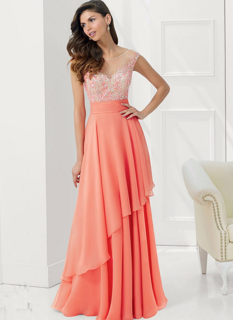 Mother of the bride dresses coral color