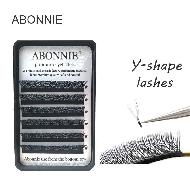 c9f49a7d54d high-quality faux mink Y-shape volume eyelash extension false eyelashes  weave eyelash soft