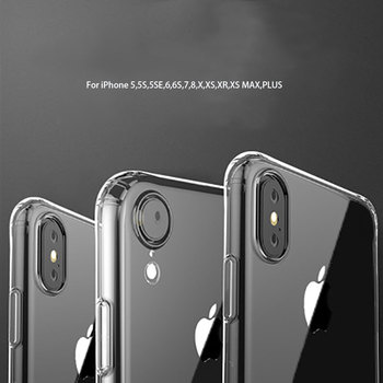 100pcs/lot Clear Silicon Soft TPU Cases For iPhone 7 8 6 6S Plus X XS MAX XR Transparent Phone Case For iPhone 5 5s SE 7Plus